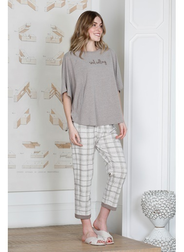 Hays Kadın Penye Midi Pijama Takımı Kahve